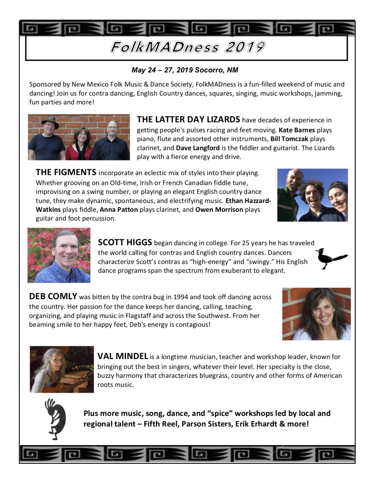 """May 27 – Plus more music, song, dance, and """"spice"""" workshops led by"""